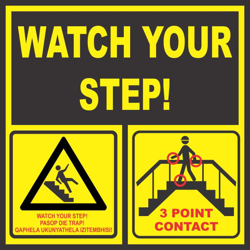 Point Of Contact: WATCH YOUR STEP & 3 POINT CONTACT